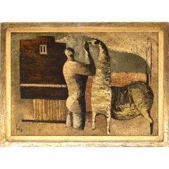 Sergio Sarri Abstract Man & Horse Painting