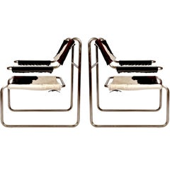 Pair of Bauhaus Tubular Chairs