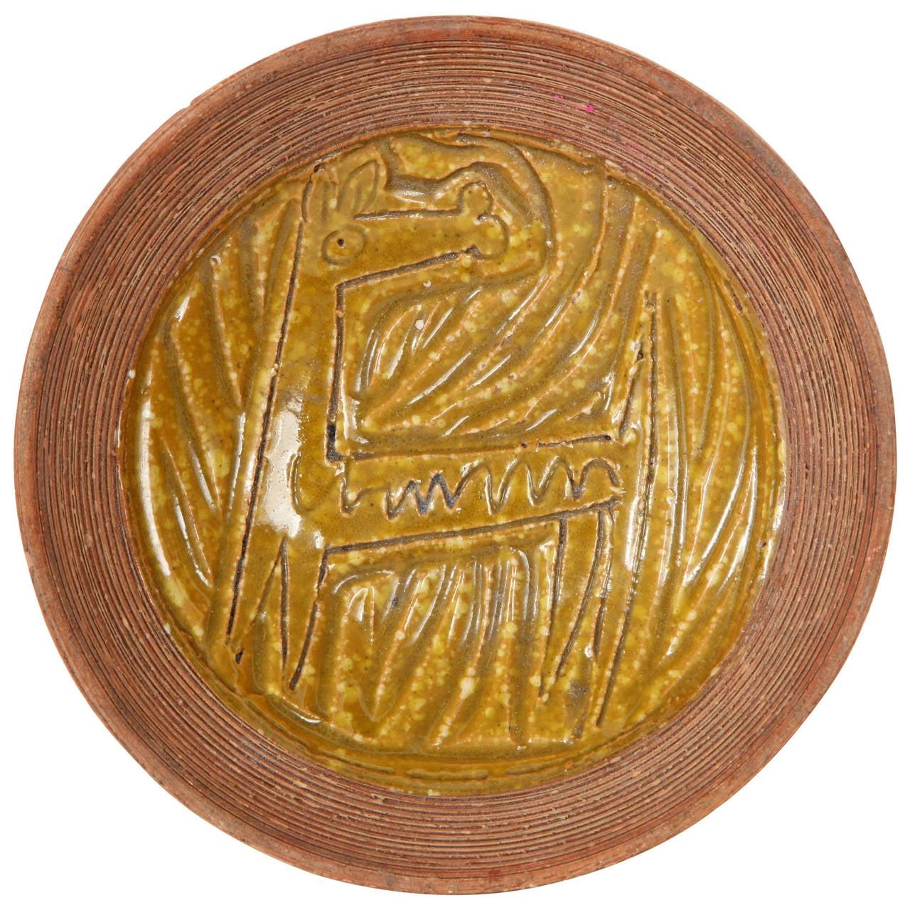 Italian Ceramic Horse Bowl