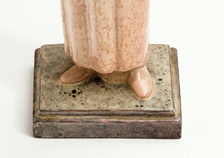Art Deco Ceramic Sculpture by Marcel Renard For Sale 2