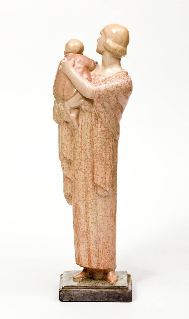 Art Deco Ceramic Sculpture by Marcel Renard In Good Condition For Sale In New York, NY