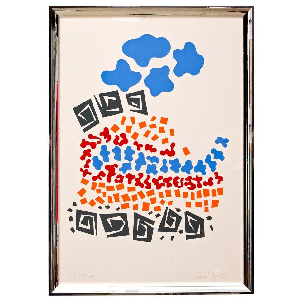 1970s Silkscreen Print by Prado