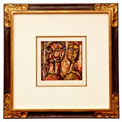 Abstract Figural Cubist Painting