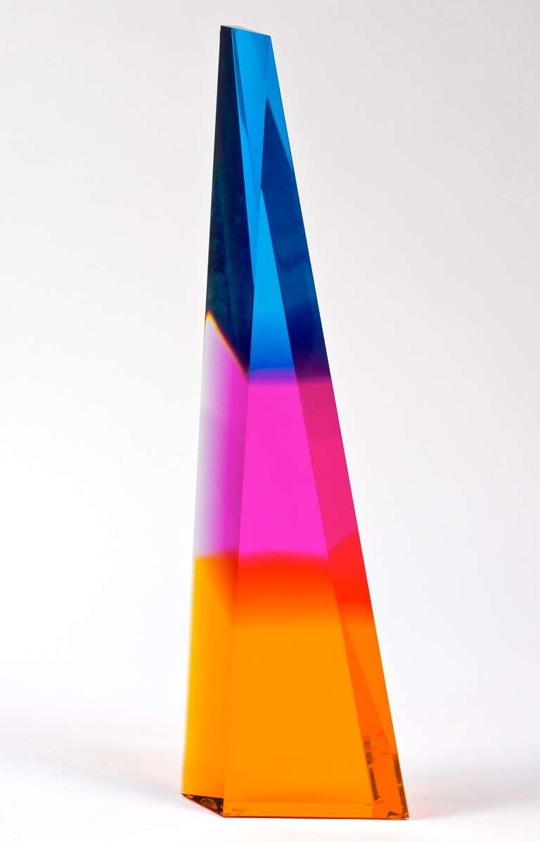 20th Century Norman Mercer Lucite Sculpture For Sale