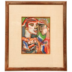 1950s Abstract Figural Portrait by Josef Presser