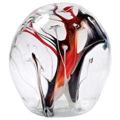 XL Peter Bramhall Glass Orb Sculpture