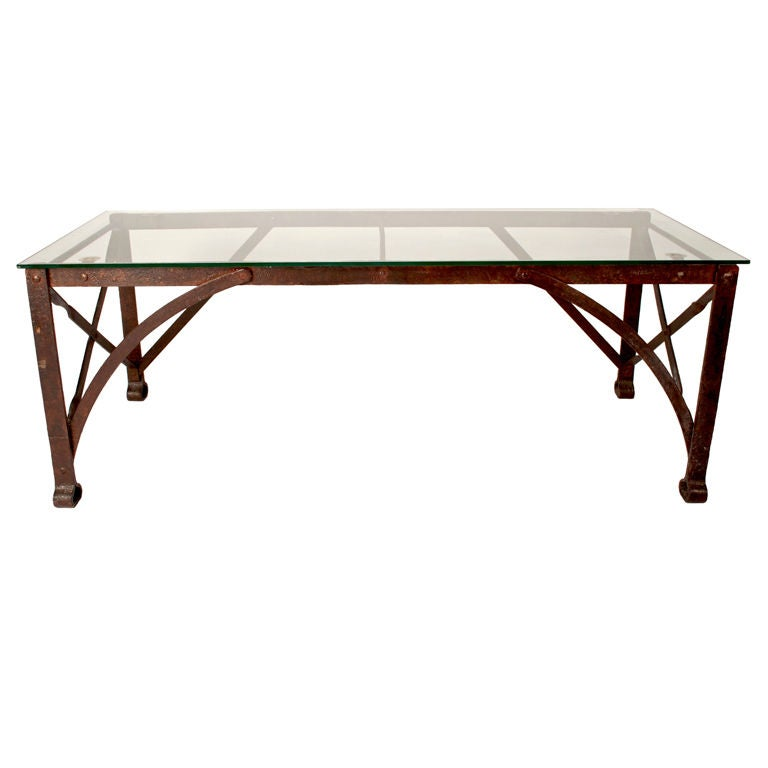French Industrial Coffee Table At 1stdibs