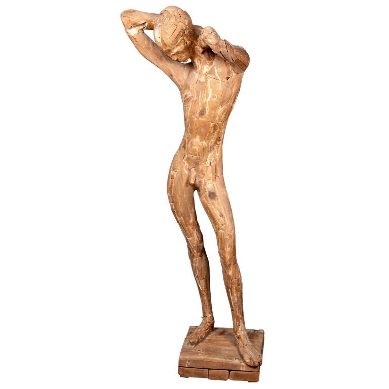Wooden Figural Sculpture by Matteson circa 1950's