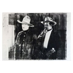 Cowboy Pop Art Monoprints