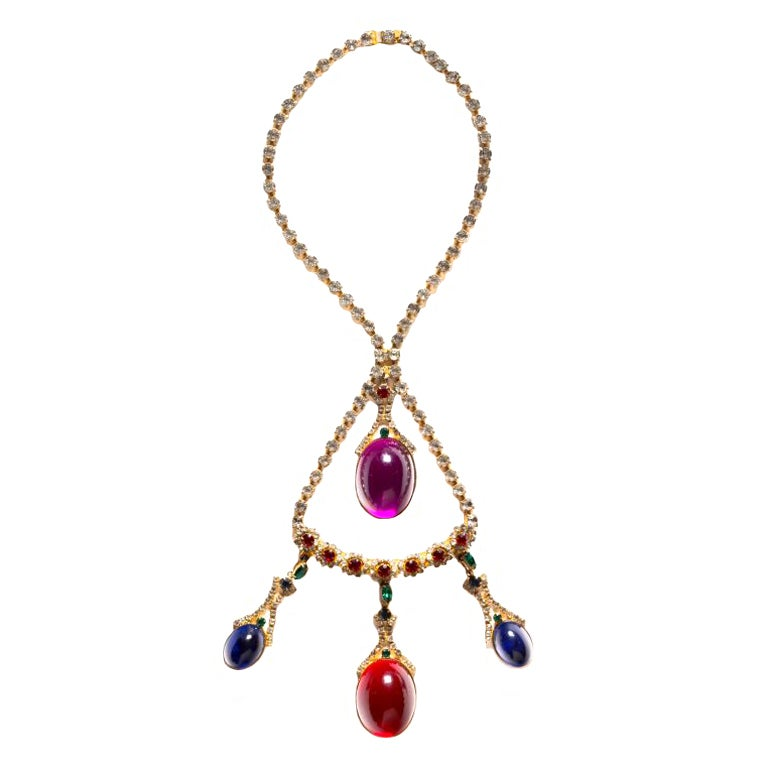 hattie carnegie jewelry hattie carnegie necklace and pendant at 1stdibs 7672