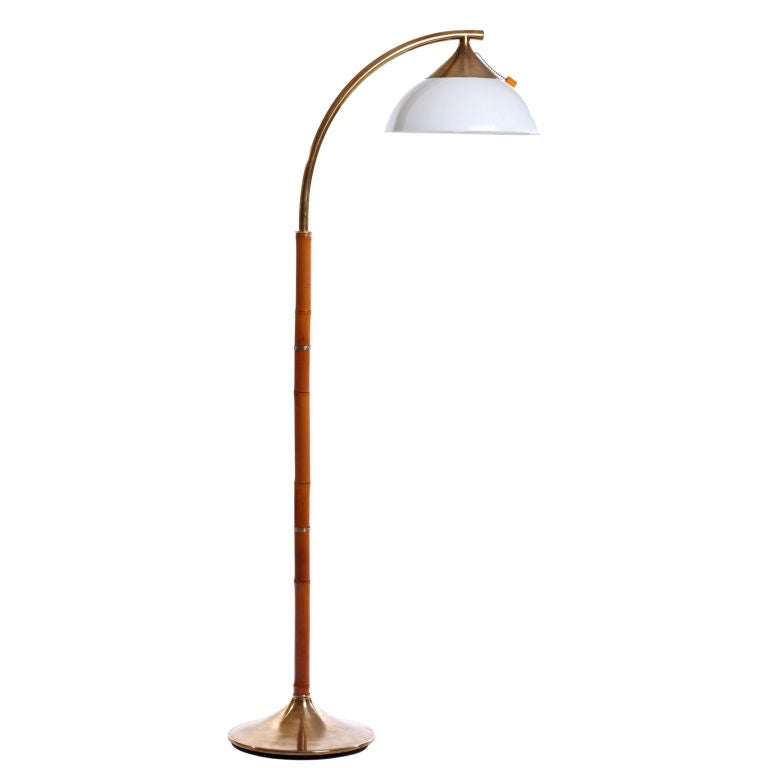 Bamboo And Brass Russel Wright Floor Lamp At 1stdibs
