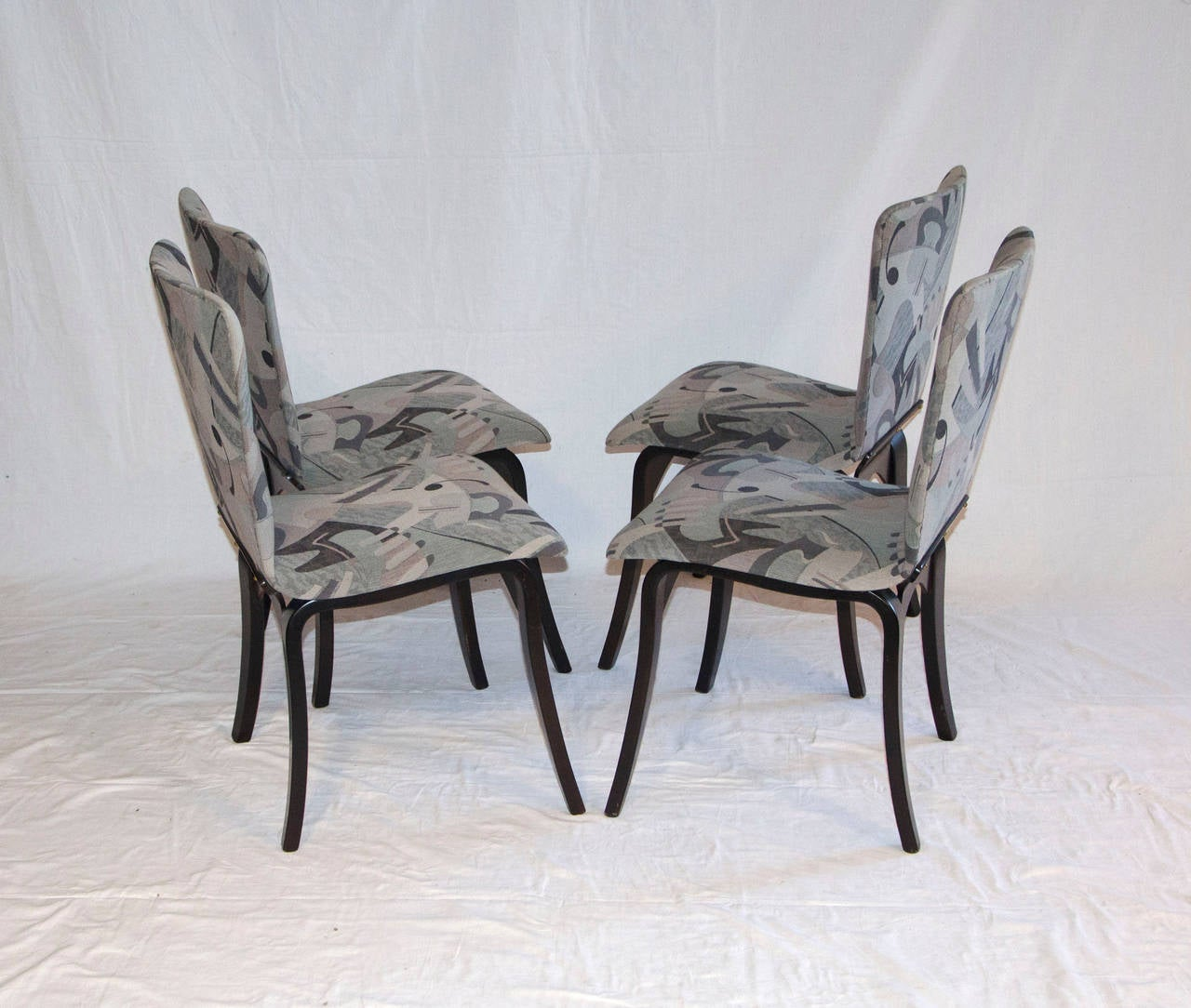 American Mid Century Bent Ply Dining Chairs - Thaden-Jordan For Sale