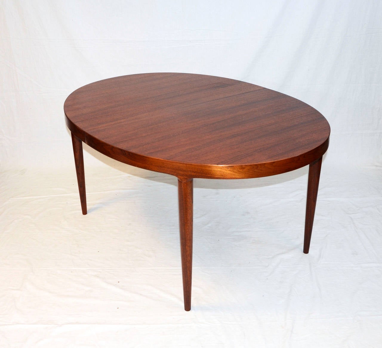 this mid century danish walnut oval dining table by moreddi co is no
