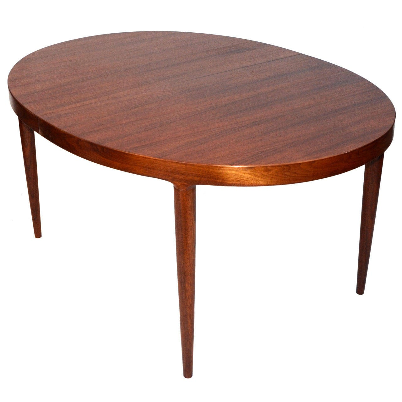Mid century danish walnut oval dining table by moreddi co Oval dining table