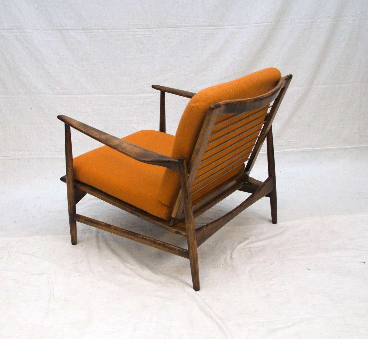 Danish lounge chair selig ib kofod larsen at 1stdibs