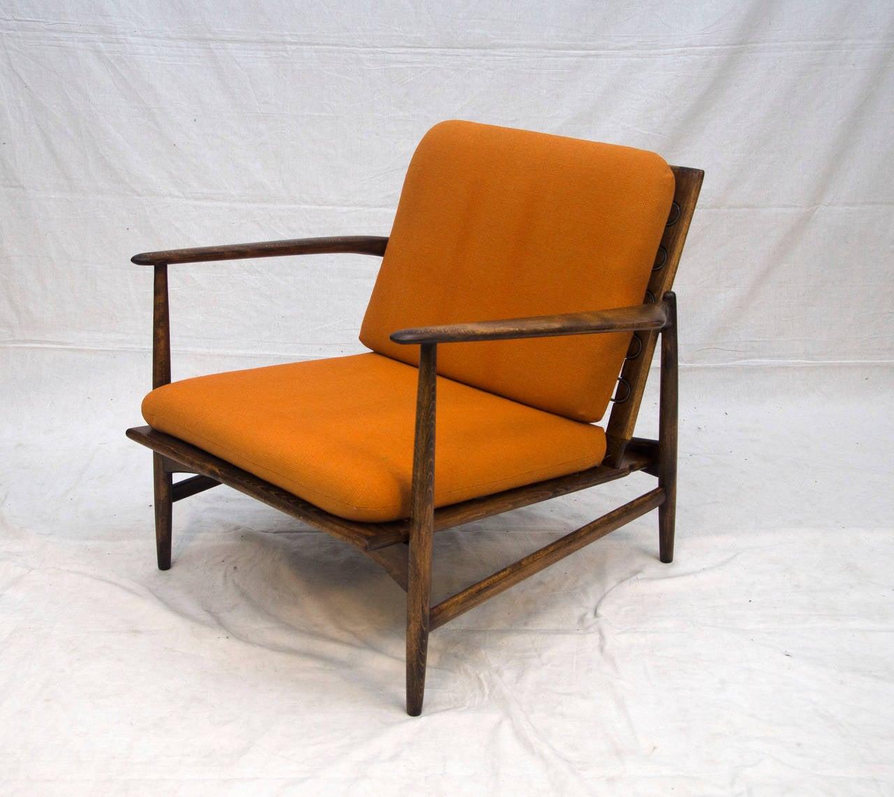 Danish Lounge Chair Selig Ib Kofod Larsen at 1stdibs