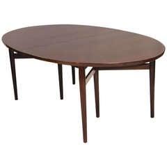 Danish Rosewood Oval Dining Table - Arne Vodder