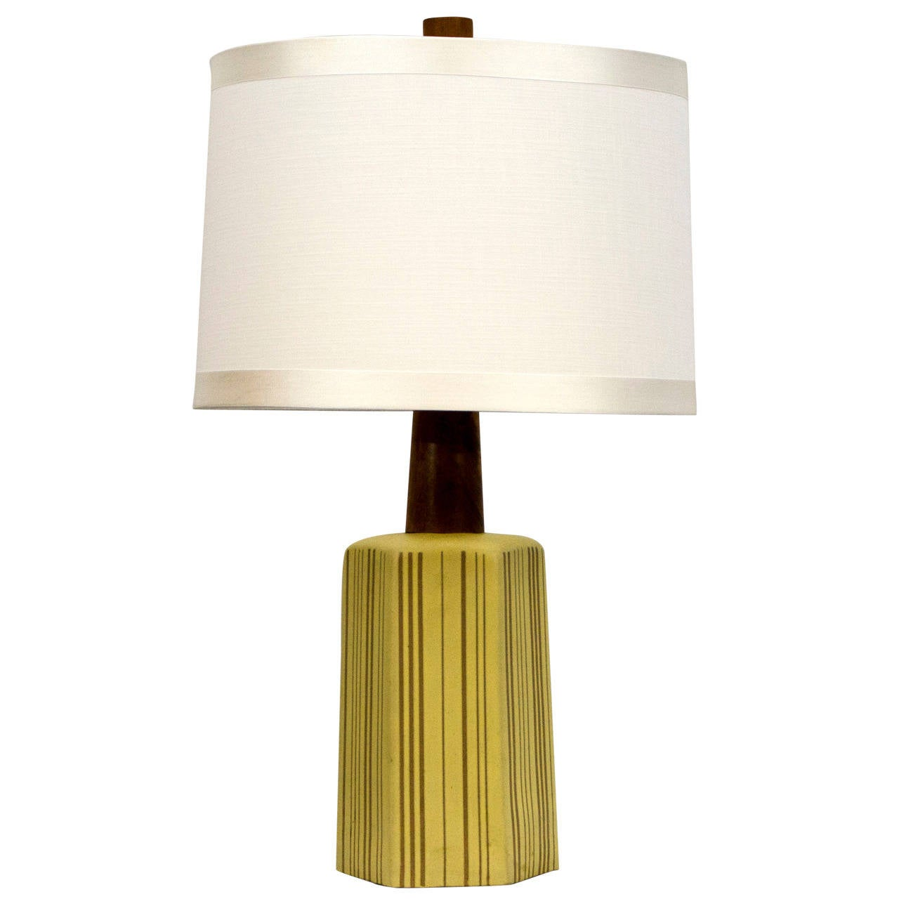this mid century ceramic table lamp gordon martz is no longer. Black Bedroom Furniture Sets. Home Design Ideas