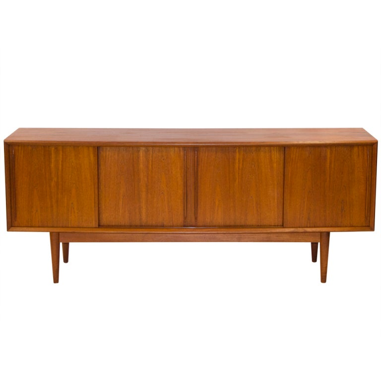 Danish Modern Walnut Credenza At 1stdibs