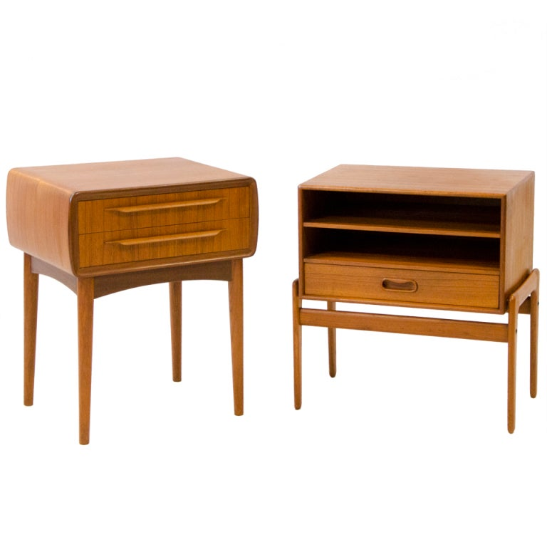 Modern Nightstands Danish modern nightstands