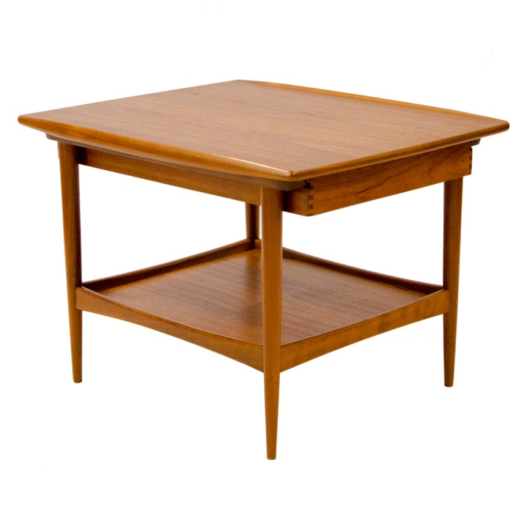Exceptional Danish Teak End Table   Moreddi 1