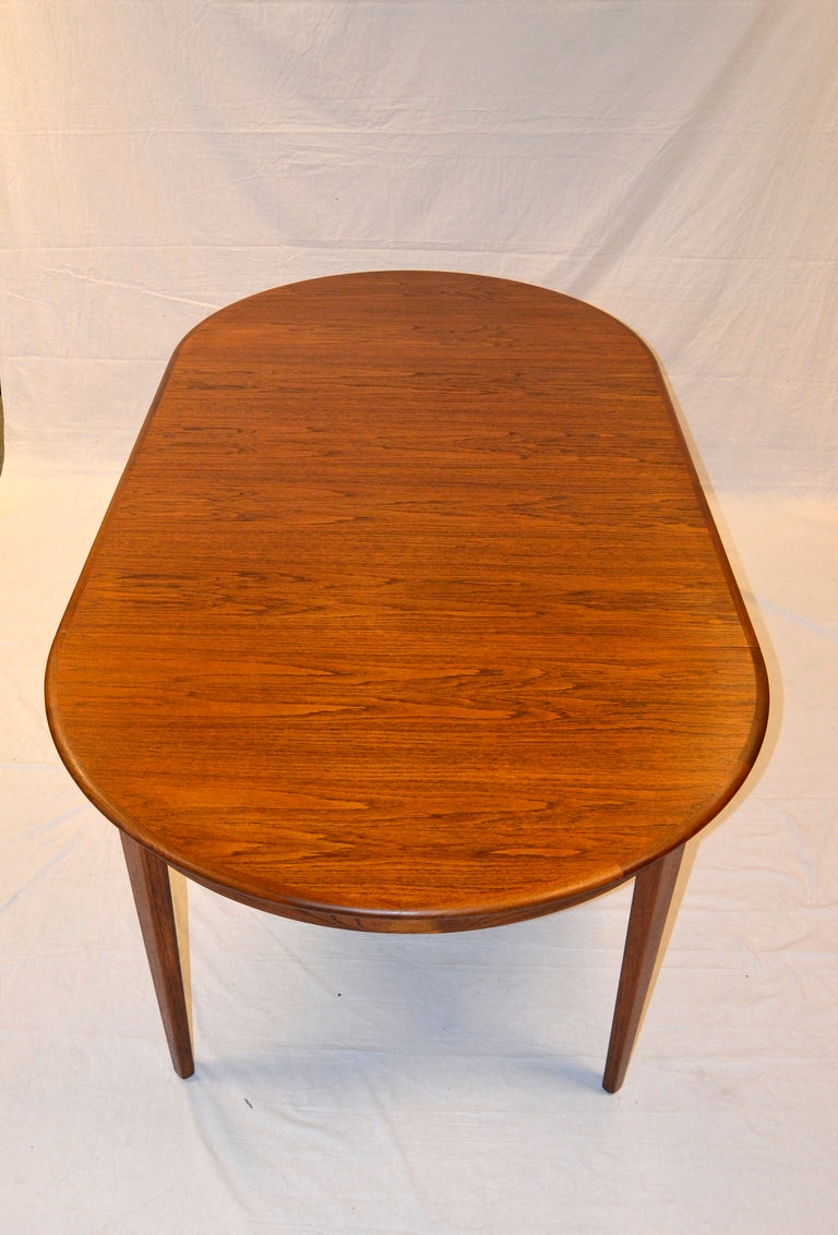 round danish teak dining table large three leaves at 1stdibs