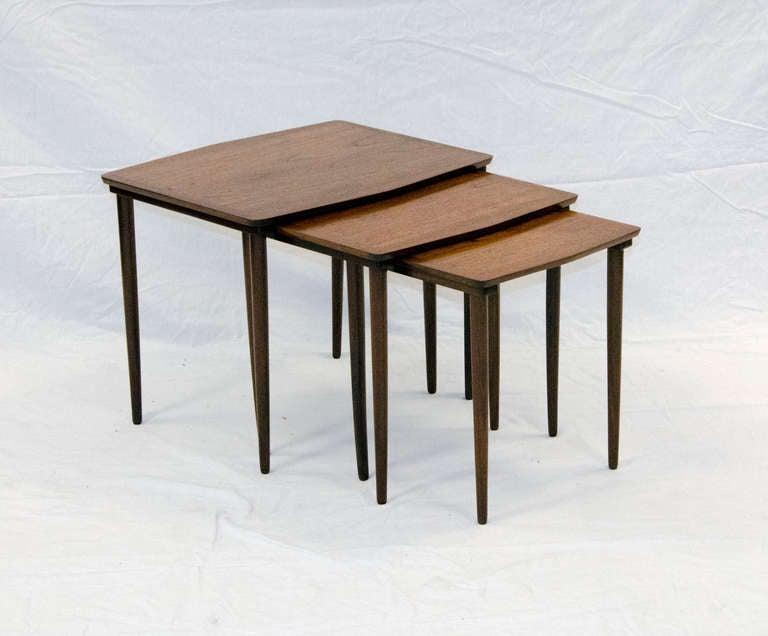 mid century teak nesting tables at 1stdibs