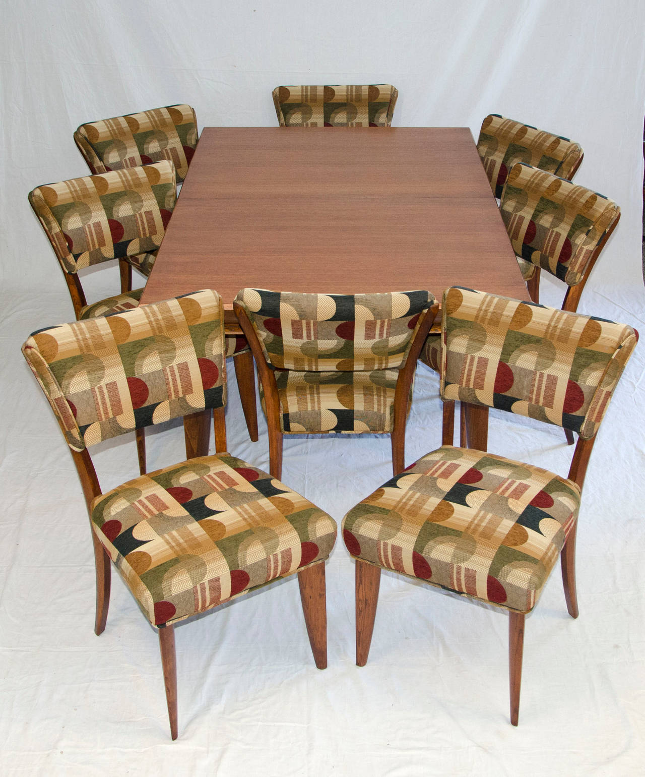 Mid Century Dining Room Table and Chairs by Paul Laszlo for Brown Saltman 3