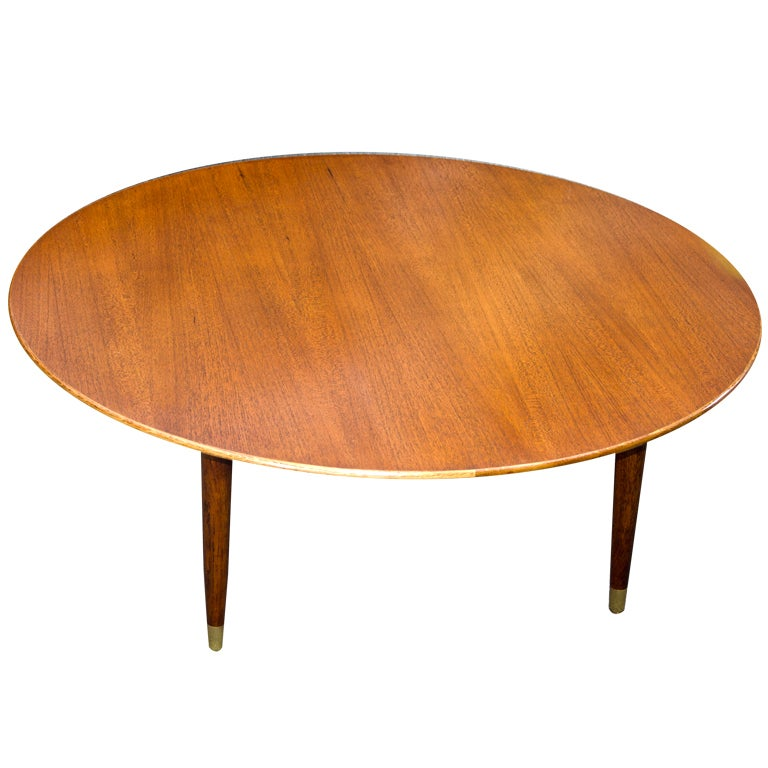Mid Century Modern Small Round Coffee Table At 1stdibs: Mid Century Round Coffee, Cocktail Table Dux At 1stdibs