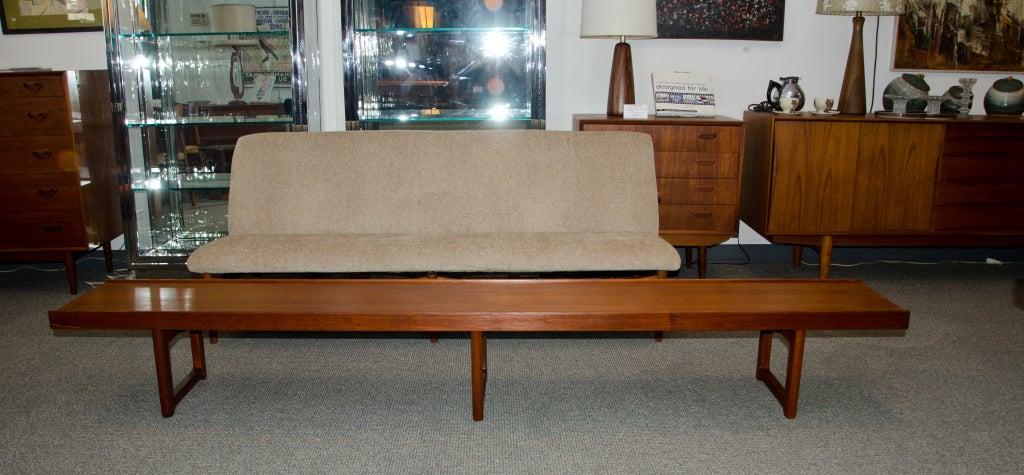 mid century teak bench coffee table bruksbo norway 3 - Teak Bench