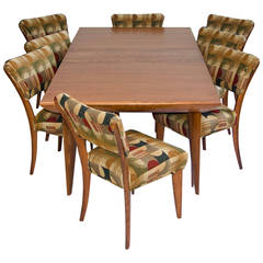 Mid Century Dining Room Table and Chairs by Paul Laszlo for Brown Saltman