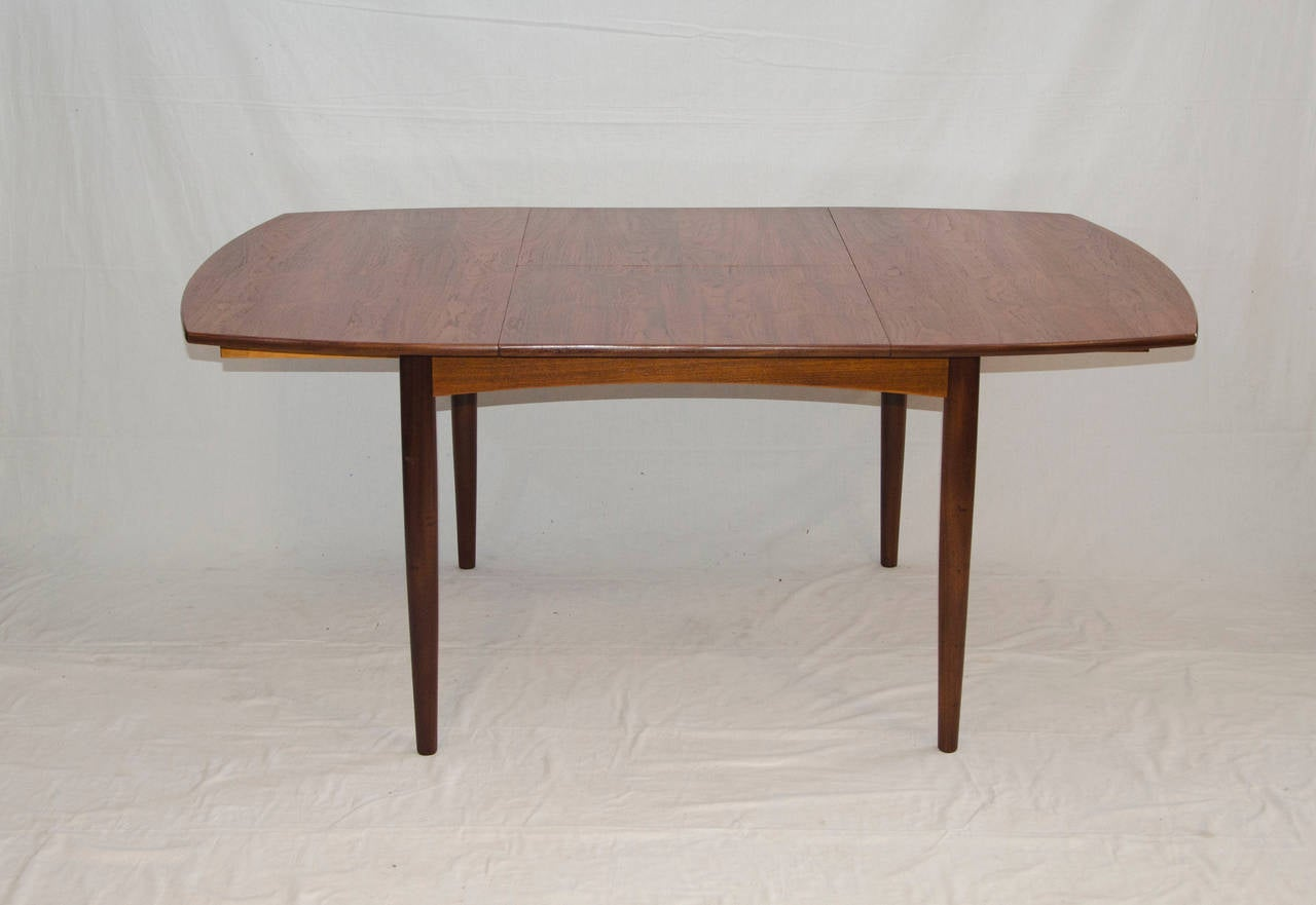 Mid century small walnut dining or game butterfly leaf table at 1stdibs - Tiny dining tables ...