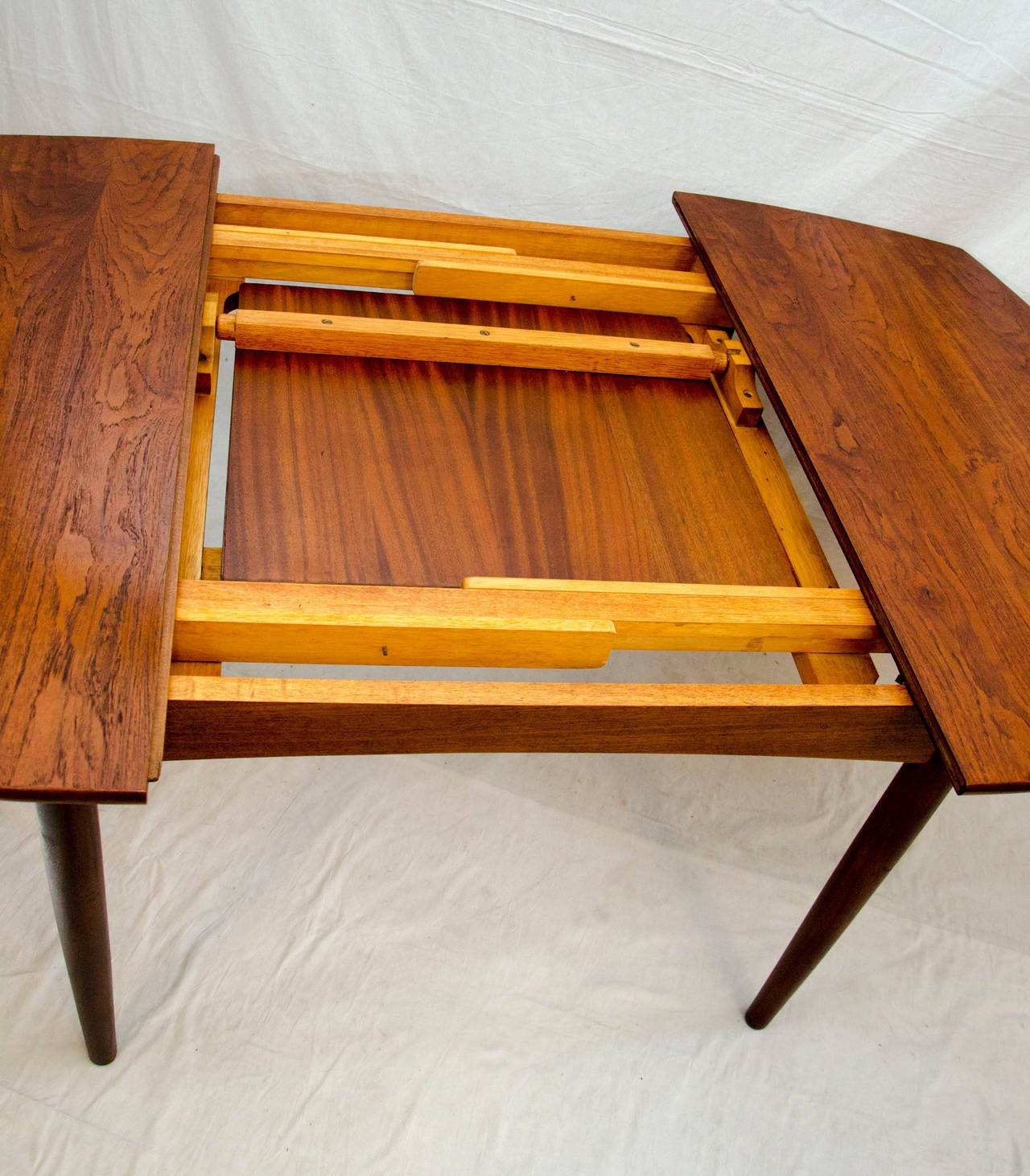 Mid Century Small Walnut Dining Or Game Butterfly Leaf