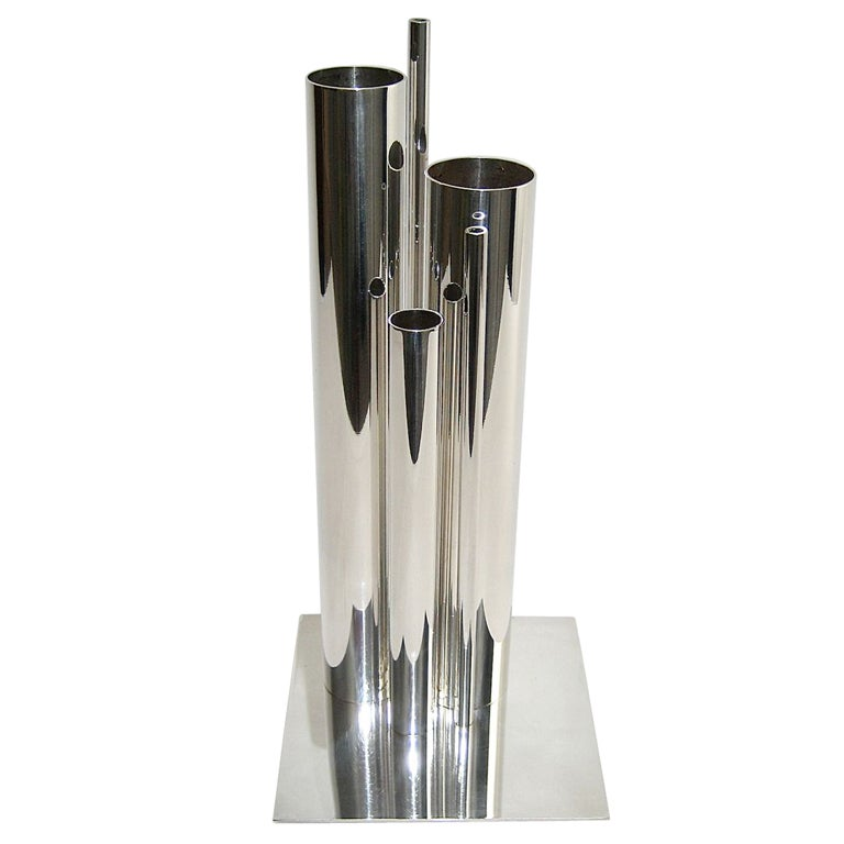 gio ponti silver vase for christofle at 1stdibs. Black Bedroom Furniture Sets. Home Design Ideas