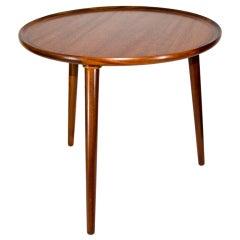 Small Danish Teak Round Occasional Table
