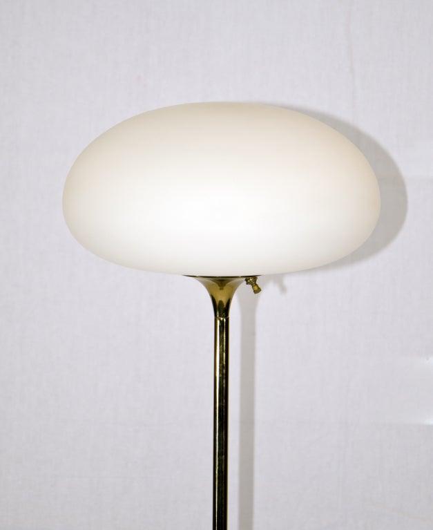 mid century laurel floor lamp mushroom shade at 1stdibs. Black Bedroom Furniture Sets. Home Design Ideas