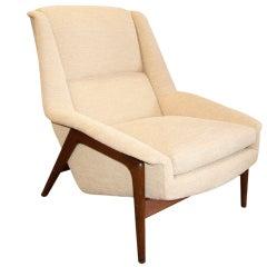 Teak Frame Lounge Chair by Folke Ohlsson for Dux