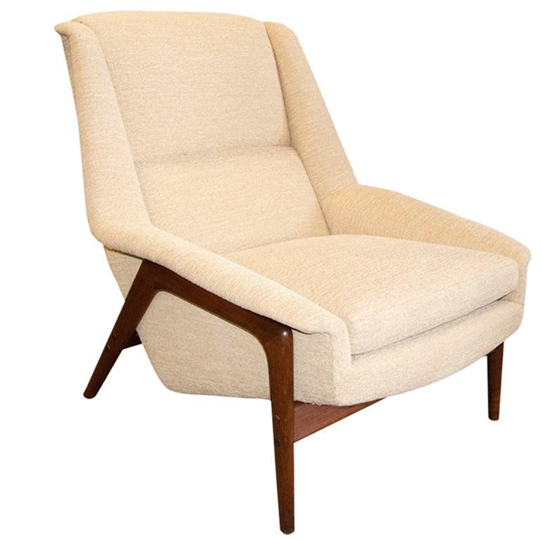 Teak Frame Lounge Chair by Folke Ohlsson for Dux at 1stdibs
