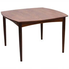 Mid Century Small Walnut Dining or Game Butterfly Leaf Table