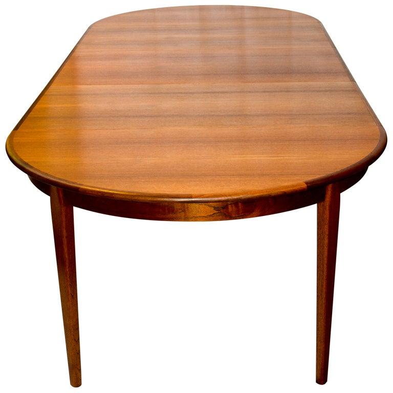 Danish teak dining table 3 leaves at 1stdibs - Scandinavian teak dining room furniture design ...