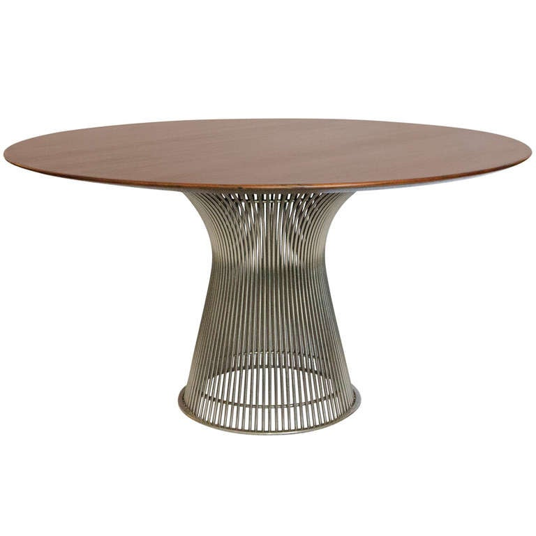 Knoll rosewood round dining table warren platner for Table warren platner