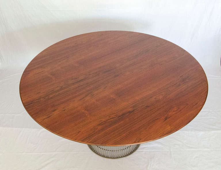 Knoll Rosewood Round Dining Table Warren Platner at 1stdibs : 411PlatnerTableC5l from www.1stdibs.com size 768 x 592 jpeg 36kB