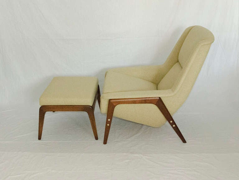 Swedish Mid Century Lounge Chair And Ottoman For Dux Sweden