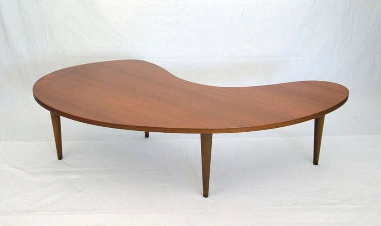 Mid Century Amoeba, Kidney or Comma Shaped Coffee Table at ...