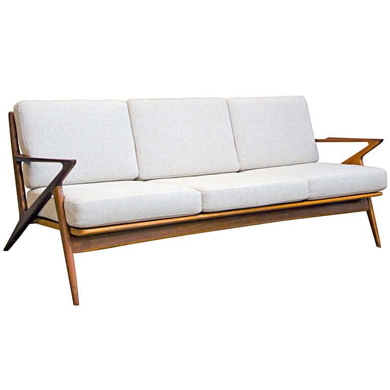 """Danish Modern Sofas: Danish Modern Selig """"Z"""" Sofa"""