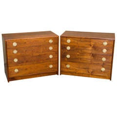 Pair of Mid Century Walnut Chests / Small Dressers