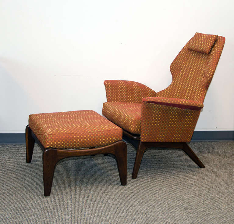 Incroyable Wonderful Example Of An Adrian Pearsall Chair And Ottoman With Impeccable  Reupholstery Job. Perfect Cant