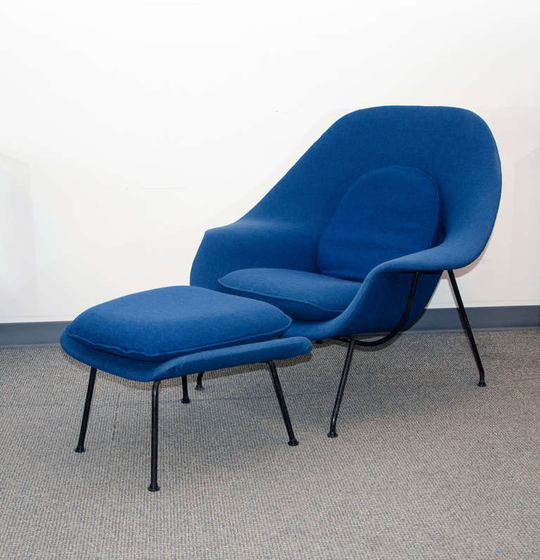 vintage womb chair and ottoman eero saarinen for knoll 2