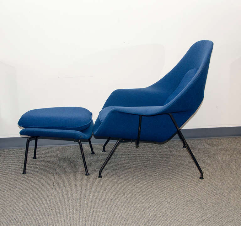 vintage womb chair and ottoman eero saarinen for knoll 3 - Womb Chair