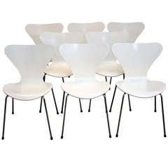 Fritz Hansen Series 7 Chairs - Set of Eight